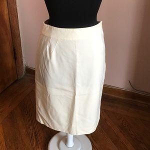 Vintage Alexander McQueen cream pencil skirt